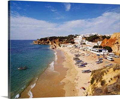 Portugal, Faro, Albufeira, Atlantic ocean, Algarve, Olhos de Agua beach