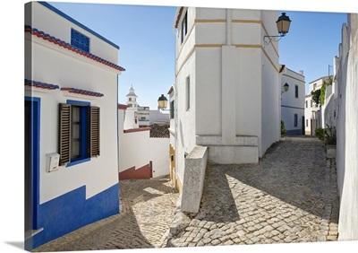 Portugal, Faro, Algarve, Alte, Cobbled village street