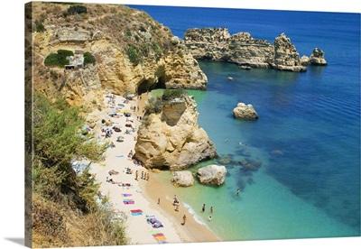 Portugal, Faro, Algarve, Praia de Dona Ana beach, near Lagos
