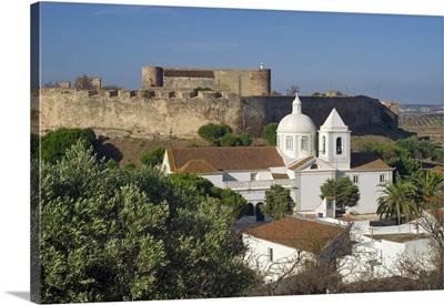 Portugal, Faro, Castro Marim, Algarve, Church and Knights Templar castle