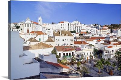 Portugal, Faro, Historical centre with the Torre Sineira and Igreja Matriz