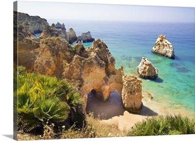 Portugal, Faro, Portimao, Atlantic ocean, Algarve, Praia de tres Irmaos