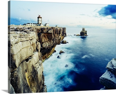 Portugal, Leira, lighthouse, Cabo Carvoeiro, Peniche village, lighthouse