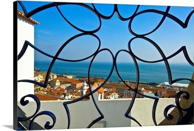 Portugal, Lisbon, Alfama, Miradouro de Santa Luzia, Grille Work