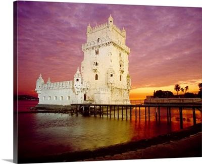 Portugal, Lisbon, Belem, Belem Tower, Tagus, Tejo, Atlantic ocean