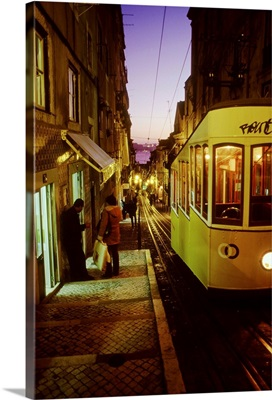 Portugal, Lisbon, Bica tram