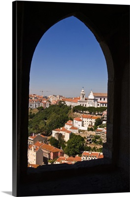 Portugal, Lisbon, Castelo de Sao Jorge and Igresia da Graca