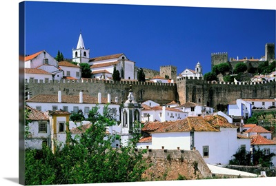 Portugal, Obidos, historical center and the castle