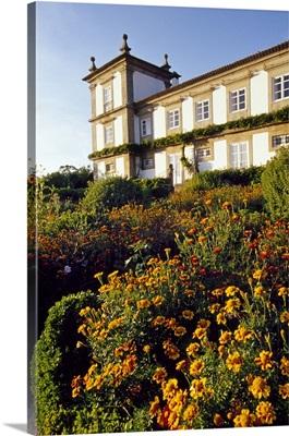 Portugal, Paco de Calheiros Villa, view from the vineyard