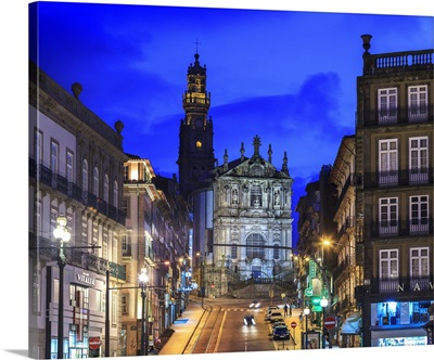 Portugal, Porto, Douro, Clerigos Cathedral and Clerigos tower