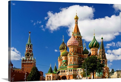 Russia, Moscow, Red Square, St. Basil's Cathedral, Cathedral built in 1555-1561