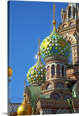 Russia, Saint Petersburg, Church of the Resurrection of Christ, Onion domes