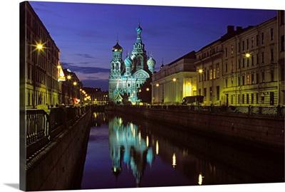 Russia, Saint Petersburg, (Leningrad), Church of our Savior and Groboedova canal
