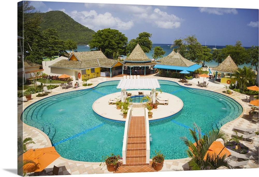 bay gardens beach resort. Saint Lucia, Gros Islet, Caribbean, Rodney Bay, Bay Gardens Beach Resort