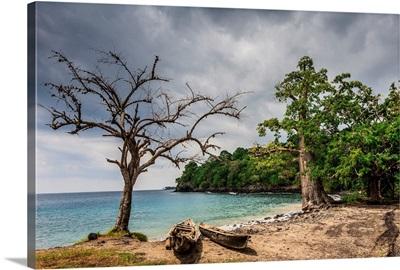 Sao Tome e Principe, Saint Thomas island, Lagoa Azul lagoon