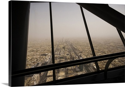 Saudi Arabia, Ar Riyad, Riyadh, View of the town from the Burj Al-Mamlaka tower