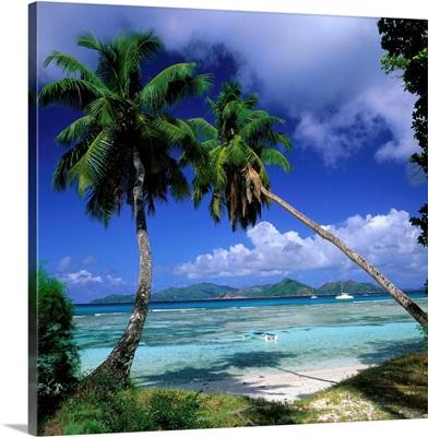 Seychelles, La Digue, Anse Severe and Praslin Island