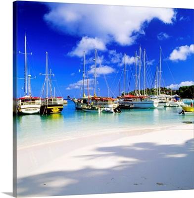 Seychelles, La Digue island, Tropics, Indian ocean, Harbour