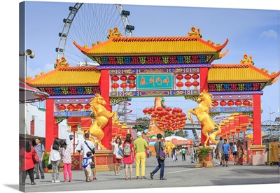 Singapore City, Chinese New Year celebrations at Singapore marina