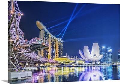 Singapore City, Laser show at Marina Bay Sands