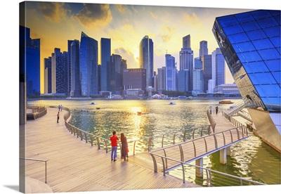 Singapore City, Marina at sunset