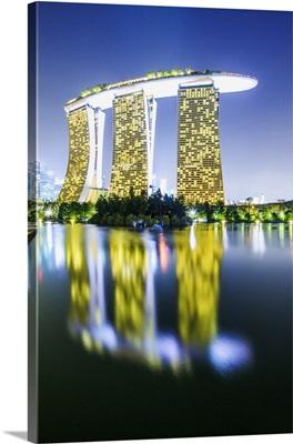 Singapore City, Marina Bay Sands at night