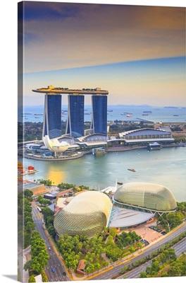 Singapore City, Marina Bay Sands at sunset