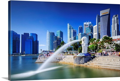 Singapore City, Merlion fountain