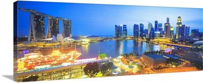 Singapore City, Singapore skyline with Marina Bay Sands