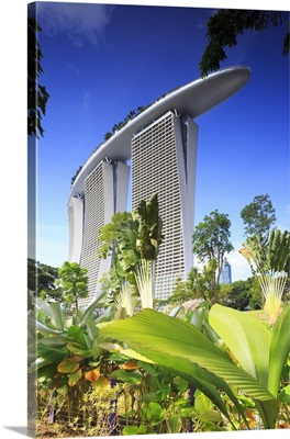 Singapore, Marina Bay Sands, view from the Gardens by the Bay park