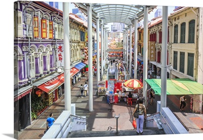 Singapore, Pagoda street in Chinatown