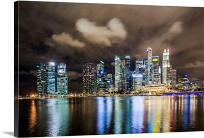 Singapore, Singapore City, Marina Bay skyline