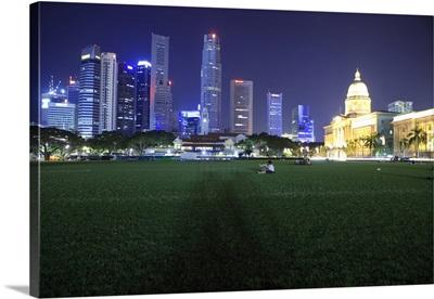 Singapore, Singapore City, Southeast Asia, View from Cricket Club, Skyline
