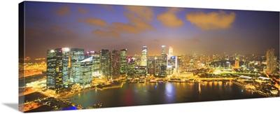 Singapore, Singapore skyline at night