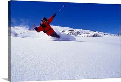Skiing, Dolomites, skiing