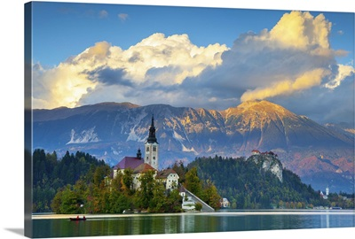 Slovenia, Bled Island with the Church of the Assumption