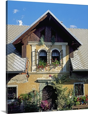 Slovenia, Upper Carniola, Radovljica, Mediterranean area, Typical house near the town