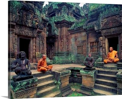 Southeast Asia, Cambodia, Kampuchea, Angkor, Banteay Srei Temple
