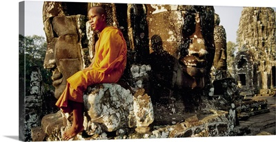 Southeast Asia, Cambodia, Kampuchea, Angkor, Bayon Temple