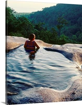 Southeast Asia, Malaysia, Kedah, Telaga Tujuh (Seven Wells) waterfall