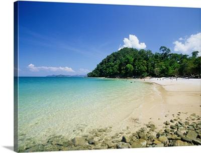 Southeast Asia, Malaysia, Langkawi Island, Kedah, Pantai Pasir Hitam beach