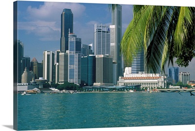 Southeast Asia, Singapore, Singapore city, skyline and Singapore River