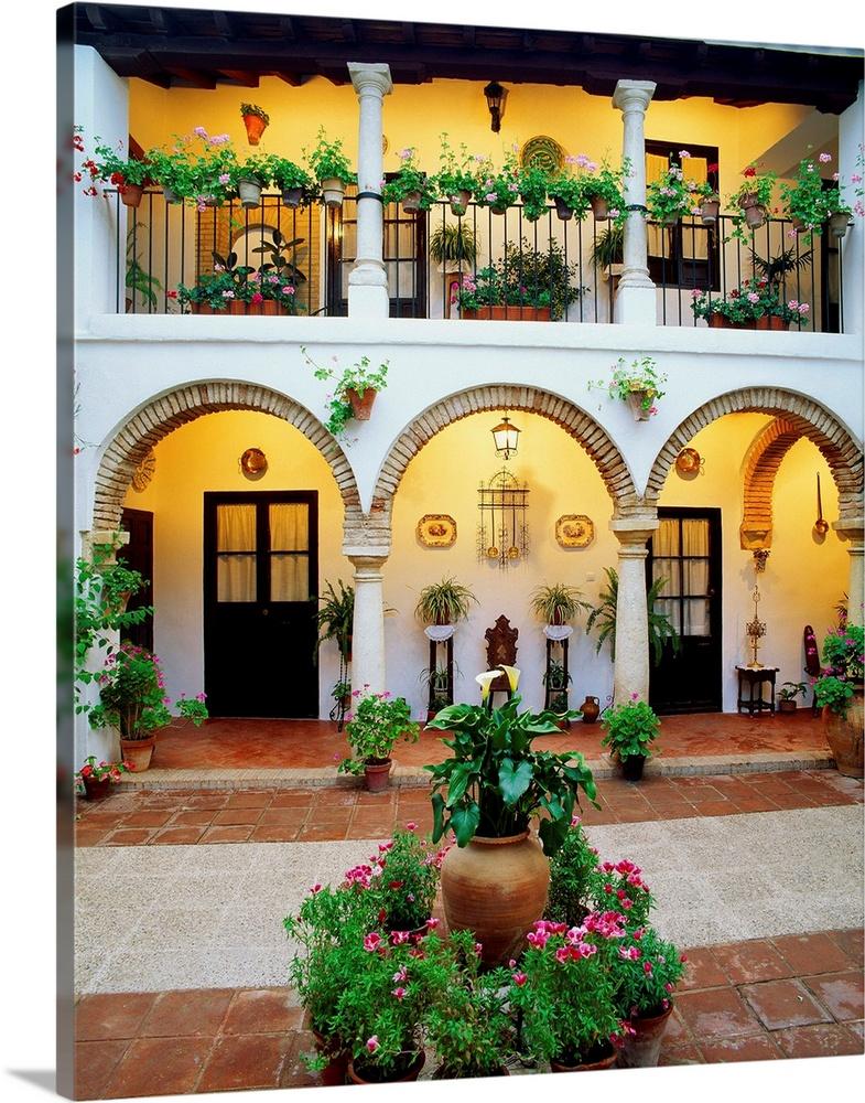 Spain, Andalucia, Cordoba, Typical Courtyard (patio)
