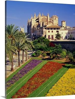 Spain, Balearic Islands, Mallorca, Palma De Mallorca, Cathedral