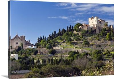 Spain, Balearic Islands, Mediterranean area, Mallorca, Arta, Santuari de Sant Salvador