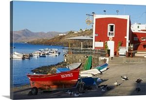 Spain canary islands lanzarote las palmas district puerto del carmen wall art canvas prints - Tv chat las palmas ...