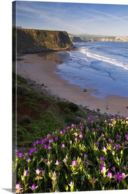 Spain, Cantabria, Suances, Playa Los Locos and Punta De Sopico