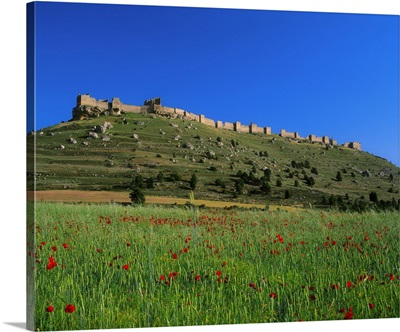 Spain, Castilla y Leon, Gormaz, Soria, ruins of the castle