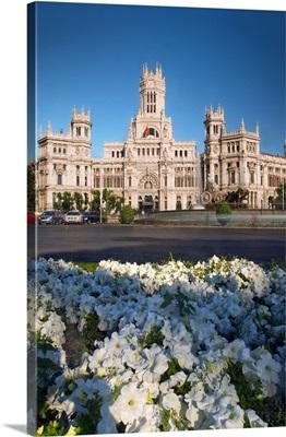 Spain, Comunidad de Madrid, Plaza de Cibeles, Palacio de Comunicaciones