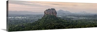 Sri Lanka, Central Province, Sigiriya, Sigiriya Rock at sunrise